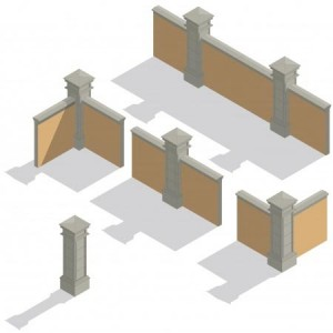 Betonzäune bieten Gestaltungsspielraum