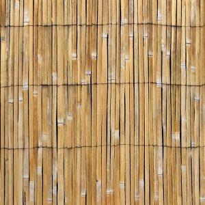 WPC Zaun in Bambusoptik